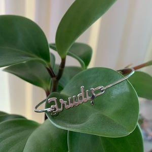 "Vintage Bracelet 70's style ""Trudy"" Silver Color"